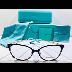 Tiffany & Co. Eyeglasses Cat Eye Black; Rose Gold